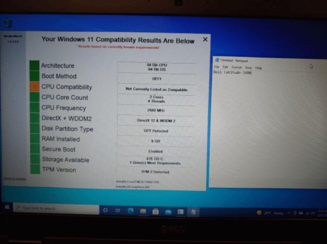 windows 11 - Dell Latitude 5480