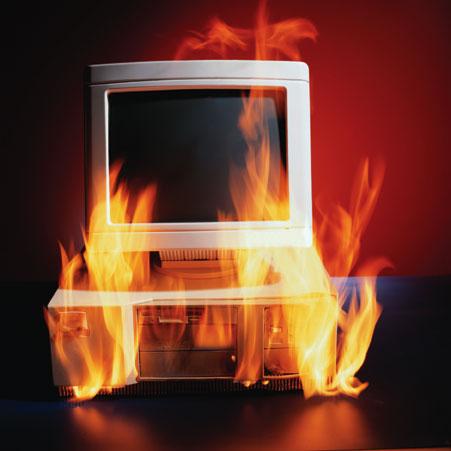 Pregret računalnik lahko zagori!